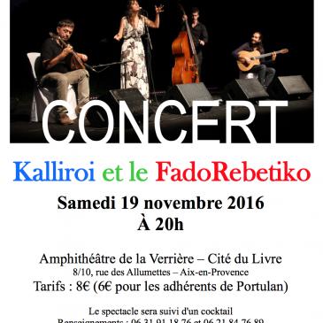 Concert Kalliroi et le FadoRebetiko
